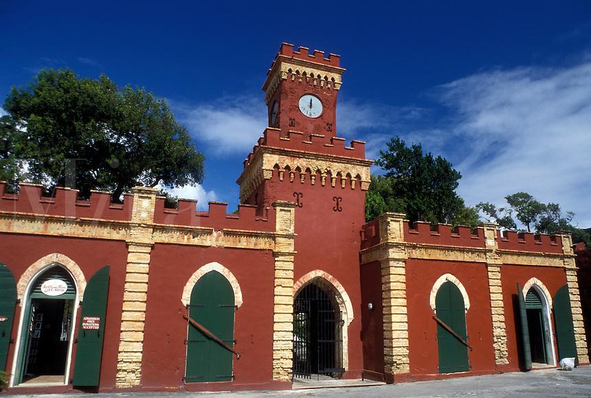 fort, St. Thomas, Charlotte Amalie, U.S. Virgin Islands, Caribbean, USVI, Fort Christian in Charlotte Amalie on Saint Thomas Island.