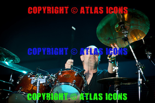 Lars Ulrich; drummer; METALLICA; Live: 2012<br /> Photo Credit: JOSH WITHERS/ATLASICONS.COM