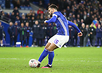 4th February 2020; Cardiff City Stadium, Cardiff, Glamorgan, Wales; English FA Cup Football, Cardiff City versus Reading; Marlon Pack of Cardiff City takes the penalty