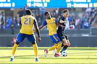 San Jose, CA - Sunday October 21, 2018: Francois Affolter during a Major League Soccer (MLS) match between the San Jose Earthquakes and the Colorado Rapids at Avaya Stadium.