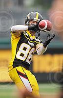 August 8, 2009; Hamilton, ON, CAN; Hamilton Tiger-Cats wide receiver Dave Stala (88). CFL football: Edmonton Eskimos vs. Hamilton Tiger-Cats at Ivor Wynne Stadium. The Tiger-Cats defeated the Eskimos 28-21. Mandatory Credit: Ron Scheffler. Copyright (c) 2009 Ron Scheffler.