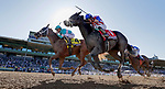 November 1, 2019 : British Idiom, ridden by Javier Castellano, wins the Breeders' Cup Juvenile Fillies on Breeders' Cup Championship Friday at Santa Anita Park in Arcadia, California on November 1, 2019. Alex Evers/Eclipse Sportswire/Breeders' Cup/CSM