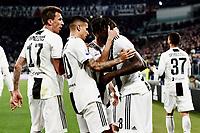 Moise Kean of Juventus celebrates with Mario Mandzukic and Joao Cancelo of Juventus after scoring the goal of 1-0 <br /> Torino 30-03-2019 Allianz Stadium <br /> Football Serie A 2018/2019 Juventus - Empoli <br /> Photo  Daniele Buffa / Image Sport / Insidefoto