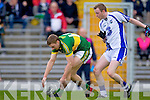 James O'Donoghue breaks away from Waterford's Thomas O'Gorman last Saturday in Fitzgerald Stadium for the Munster GAA football championship