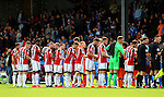 Teams shake hands before kick off during the English League One match at Glanford Park Stadium, Scunthorpe. Picture date: September 24th, 2016. Pic Simon Bellis/Sportimage