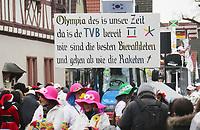 """TV Büttelborn schickt """"Bierathleten"""" auf die Strecke - Büttelborn 11.02.2018: Rosensonntagsumzug der BCA"""