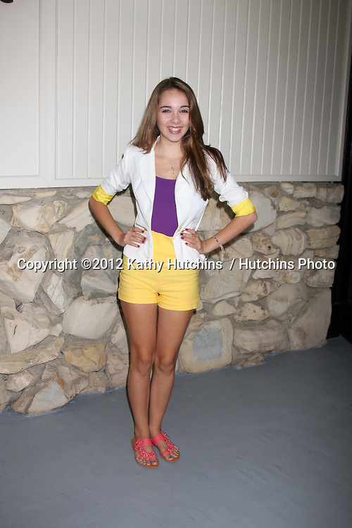 LOS ANGELES - JUL 21:  Haley Pullos arrives at the 2012 General Hospital Fan Club Luncheon at Sportsman's Lodge  on July 21, 2012 in Studo City, CA