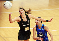 07.08.2010 Silver Ferns Irene Van Dyk in action during the Silver Ferns v Samoa netball test match played at Te Rauparaha Arena in Porirua, Wellington. Mandatory Photo Credit ©Michael Bradley.