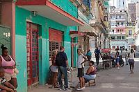 Neighbors on Calle Blanco, Centro Habana