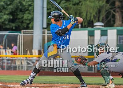 21 July 2016: Hudson Valley Renegades first baseman Nathaniel Lowe at bat against the Vermont Lake Monsters at Centennial Field in Burlington, Vermont. The Lake Monsters edged out the Renegades 4-3 in NY Penn League play. Mandatory Credit: Ed Wolfstein Photo *** RAW (NEF) Image File Available ***