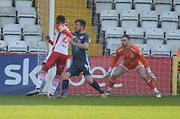 Moses Makasi of Stevenage goes close during Stevenage vs Bury, Sky Bet EFL League 2 Football at the Lamex Stadium on 9th March 2019