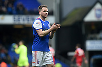 Ipswich Town's Alan Judge applauds the fans at the final whistle <br /> <br /> Photographer Hannah Fountain/CameraSport<br /> <br /> The EFL Sky Bet Championship - Ipswich Town v Nottingham Forest - Saturday 16th March 2019 - Portman Road - Ipswich<br /> <br /> World Copyright &copy; 2019 CameraSport. All rights reserved. 43 Linden Ave. Countesthorpe. Leicester. England. LE8 5PG - Tel: +44 (0) 116 277 4147 - admin@camerasport.com - www.camerasport.com
