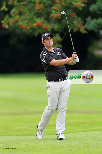 Alan Lowry (Esker Hills) on the 17th during round 2 of the Ulster Youths Amateur Open Championship in Balmoral Golf Club on Wednesday 6th August 2014.<br /> Picture:  Thos Caffrey / www.golffile.ie