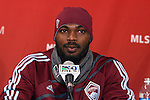 19 November 2010: Omar Cummings. The Colorado Rapids held a press conference at BMO Field in Toronto, Ontario, Canada as part of their preparations for MLS Cup 2010, Major League Soccer's championship game.