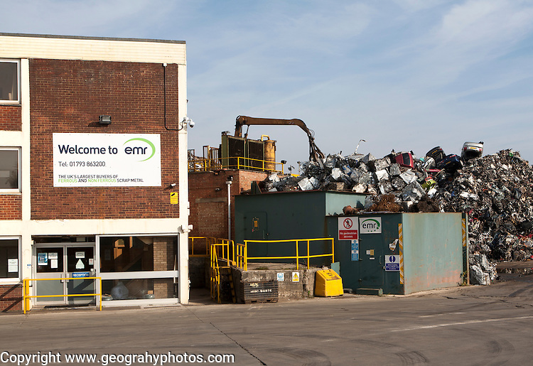 Scrap metal recycling EMR company, Swindon, England, UK