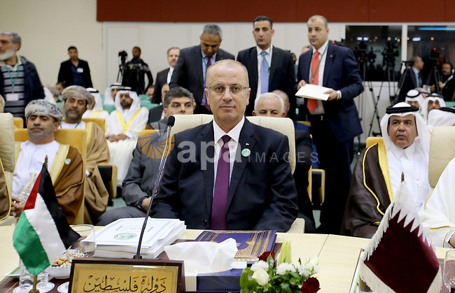 Palestinian Prime Minister Rami Hamdallah attends the 34th meeting of Arab Interior Ministers Council in Tunis, Tunisia on April 5, 2017. Photo by Prime Minister Office