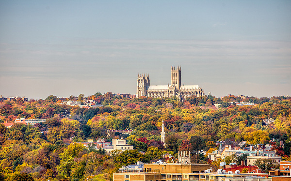 National Cathedral Fall Color Washington DC Architecture