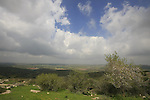 Israel, Shephelah, View from Givat Gad (Gad Hill) reserve