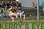 Aisling Leonard Castleisland Desmonds/Duagh blocks Megan O'Connell Southern Gaels  in the County final in Killorglin on Sunday