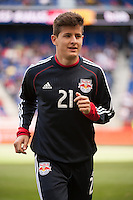 Ruben Bover (21) of the New York Red Bulls. The New York Red Bulls defeated the Philadelphia Union 2-1 during a Major League Soccer (MLS) match at Red Bull Arena in Harrison, NJ, on March 30, 2013.