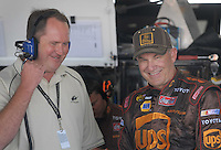 May 4, 2007; Richmond, VA, USA; Derrick Finley crew chief with Nascar Nextel Cup Series driver Dale Jarrett (44) during practice for the Jim Stewart 400 at Richmond International Raceway. Mandatory Credit: Mark J. Rebilas