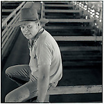 JUNE 1995    -  Rockhampton, Australia   - A stockman at the cattle auctions. Rockhampton is Australia's beef capital..