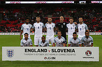 England line up before the FIFA World Cup 2018 Qualifying Group F match between England and Slovenia at Wembley Stadium on October 5th 2017 in London, England. Equipe<br /> Calcio Inghilterra - Slovenia Qualificazioni Mondiali <br /> Foto Phcimages/Panoramic/insidefoto