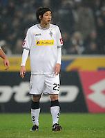 FUSSBALL   1. BUNDESLIGA   SAISON 2011/2012   23. SPIELTAG Borussia Moenchengladbach - Hamburger SV         24.02.2012 Yuki Otsu (Borussia Moenchengladbach) ist enttaeuscht