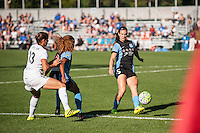 Kansas City, MO - Sunday September 11, 2016: Katie Naughton, Casey Short, Brittany Taylor during a regular season National Women's Soccer League (NWSL) match between FC Kansas City and the Chicago Red Stars at Swope Soccer Village.