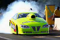 Aug. 16, 2013; Brainerd, MN, USA: NHRA pro stock driver Mark Martino during qualifying for the Lucas Oil Nationals at Brainerd International Raceway. Mandatory Credit: Mark J. Rebilas-