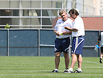 17 June 2007: New England assistant coach Paul Mariner (r) and goalkeeper coach Gwynne Williams (GW). The New England Revolution Reserves defeated the Columbus Crew Reserves 2-1 on the Gillette Stadium practice field in Foxboro, Massachusetts in a Major League Soccer Reserve Division game.