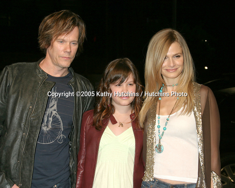 Kevin Bacon.Daughter Sosie Ruth Bacon.Kyra Sedgwick.Beauty  Shop Premiere.Mann's National Theater.March 24, 2005.©2005 Kathy Hutchins / Hutchins Photo...