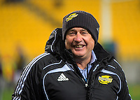 Hurricanes head coach Chris Boyd during the Super Rugby semifinal match between the Hurricanes and Chiefs at Westpac Stadium, Wellington, New Zealand on Saturday, 30 July 2016. Photo: Dave Lintott / lintottphoto.co.nz