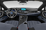 Stock photo of straight dashboard view of a 2019 BMW i8 Base 2 Door Convertible