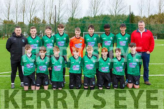 The Castleisland AFC team that played Killarney Celtic in the u14 Premier league in Georgie O'Callaghan PArk on Saturday