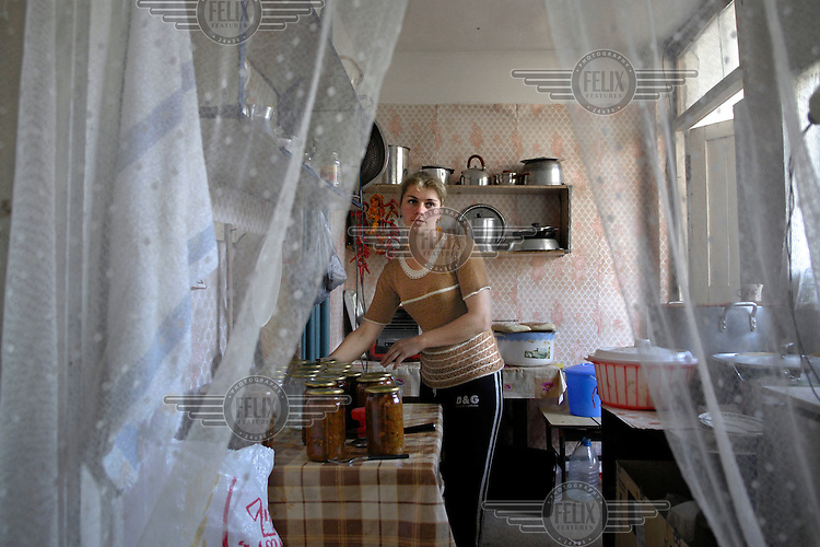 Internally Displaced Person (IDP) from the 1993 Abkhazia conflict. Many thousand Georgians are still housed in former hotel buildings.
