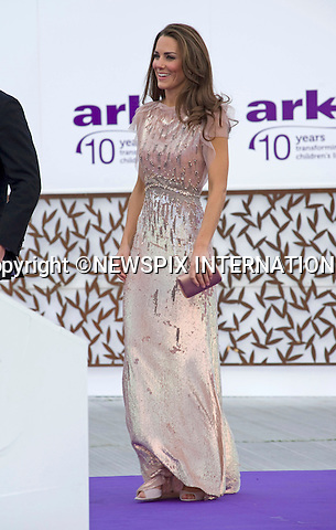 """PRINCE WILLIAM & CATHERINE, DUCHESS OF CAMBRIDGE.attend the 10th ARK Gala Dinner, Kensington Palace Gardens, London_09/06/2011.This was the couple's first official engagement since the wedding.Mandatory Photo Credit: ©Dias/NEWSPIX INTERNATIONAL.**ALL FEES PAYABLE TO: """"NEWSPIX INTERNATIONAL""""**..PHOTO CREDIT MANDATORY!!: DIASIMAGES(Failure to credit will incur a surcharge of 100% of reproduction fees)..IMMEDIATE CONFIRMATION OF USAGE REQUIRED:.DiasImages, 31a Chinnery Hill, Bishop's Stortford, ENGLAND CM23 3PS.Tel:+441279 324672  ; Fax: +441279656877.Mobile:  0777568 1153.e-mail: info@diasimages.com"""
