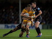 Wasps' Tom Willis in action during todays match<br /> <br /> Photographer Bob Bradford/CameraSport<br /> <br /> Gallagher Premiership - Exeter Chiefs v Wasps - Saturday 30th November 2019 - Sandy Park - Exeter<br /> <br /> World Copyright © 2019 CameraSport. All rights reserved. 43 Linden Ave. Countesthorpe. Leicester. England. LE8 5PG - Tel: +44 (0) 116 277 4147 - admin@camerasport.com - www.camerasport.com