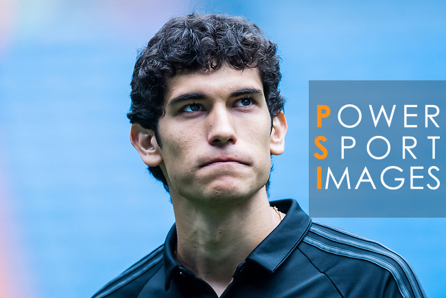 Jesus Vallejo of Real Madrid looks prior the La Liga match between Real Madrid and Levante UD at the Estadio Santiago Bernabeu on 09 September 2017 in Madrid, Spain. Photo by Diego Gonzalez / Power Sport Images
