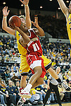 University of Wisconsin sophomore guard Jordan Taylor (11) looks to shoot from under the basket against the University of Michigan during a Big Ten Conference game at Crisler Arena in Ann Arbor, MI on February 6, 2010. (Photo by Bob Campbell)