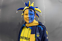 Oxford United supporter before the The Checkatrade Trophy / EFL Trophy FINAL match between Oxford United and Coventry City at Wembley Stadium, London, England on 2 April 2017. Photo by Kevin Prescod.