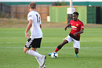 DJ Duffonge of Manchester United U23's in action during Fulham Under-23 vs Manchester United Under-23, Premier League 2 Football at Motspur Park on 10th August 2018
