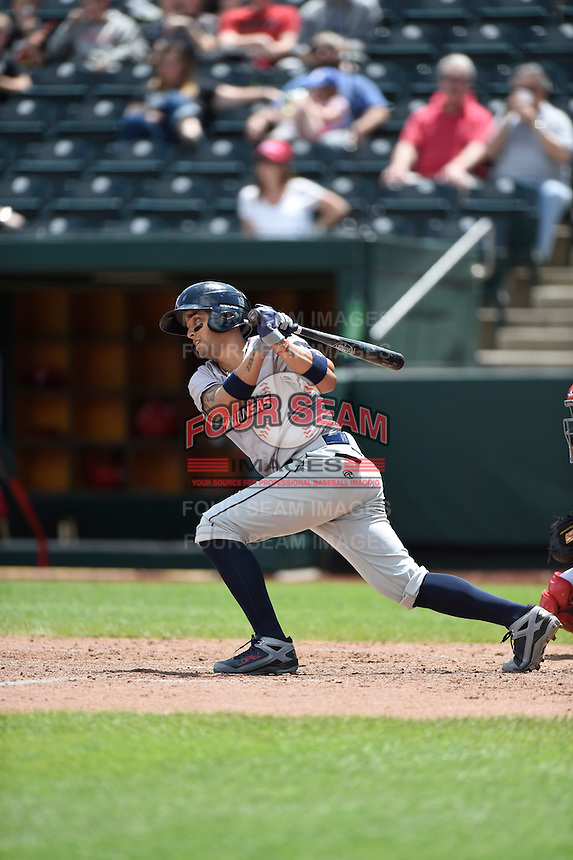 ***Temporary Unedited Reference File***Northwest Arkansas Naturals second baseman Jack Lopez (1) during a game against the Springfield Cardinals on April 27, 2016 at Hammons Field in Springfield, Missouri.  Springfield defeated Northwest Arkansas 8-1.  (Mike Janes/Four Seam Images)