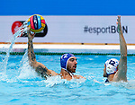 Samuel Balaz in action during game between Russia  against Slovakia  LEN European Water Polo Championships, Barcelona 16.07.2018