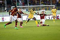 Raman ChibsahDaniele De Rossi Radja Nainggolan  durante l'incontro di calcio di Serie A   Frosinone - Roma   allo  Stadio Matusa di   di Frosinone ,12  Settembre 2015