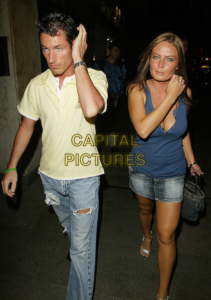 PIC BY GARY STONE. 30/8/2005. 07887 563634. EX EASTENDER DEAN GAFNEY & FRIEND ARRIVE AT JADE GOODY HAIR SALON LAUNCH PARTY AT EMBASSY CLUB. ( NOT FOR SUN)