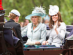"""Catherine, Duchess of Cambridge and Camilla, Duchess of Cornwall.TROOPING THE COLOUR_Duke of Edinburgh Makes 1st Appearance since being hospitalised.The event marks the Queen's Official Birthday, The Mall, London_16th May 2012.Photo Credit: ©Reynolds/Newspix International..**ALL FEES PAYABLE TO: """"NEWSPIX INTERNATIONAL""""**..PHOTO CREDIT MANDATORY!!: NEWSPIX INTERNATIONAL..IMMEDIATE CONFIRMATION OF USAGE REQUIRED:.Newspix International, 31 Chinnery Hill, Bishop's Stortford, ENGLAND CM23 3PS.Tel:+441279 324672  ; Fax: +441279656877.Mobile:  0777568 1153.e-mail: info@newspixinternational.co.uk"""