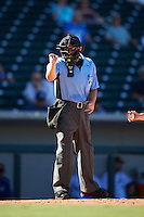 Umpire Nick Mahrley during an Arizona Fall League game between the Scottsdale Scorpions and Mesa Solar Sox on October 21, 2016 at Sloan Park in Mesa, Arizona.  Mesa defeated Scottsdale 4-3.  (Mike Janes/Four Seam Images)