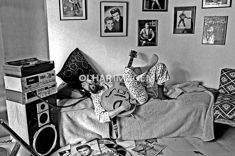 Pessoa. Personalidade. Raul Seixas, cantor e compositor. SP. 1984. Foto de Juca Martins.