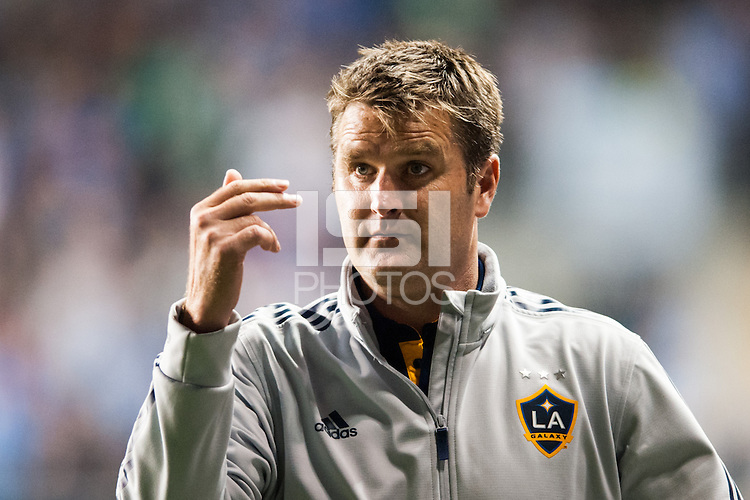 Los Angeles Galaxy assistant coach Curt Onalfo. The Los Angeles Galaxy defeated the Philadelphia Union 4-1 during a Major League Soccer (MLS) match at PPL Park in Chester, PA, on May 15, 2013.
